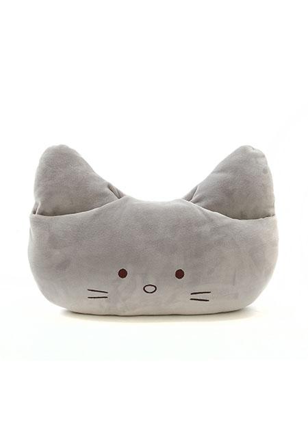 כרית חתול אפורה