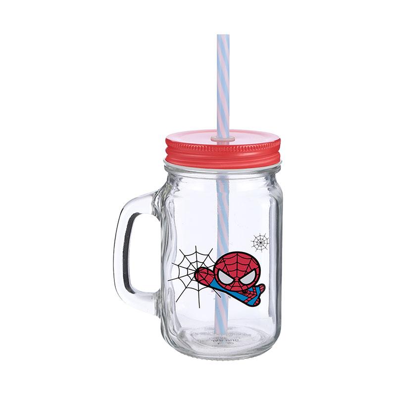 כוס עם קש ספיידרמן