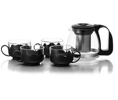 סט תה הכולל קנקן ,4 כוסות