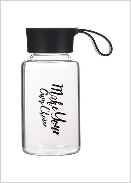 בקבוק זכוכית אופנתי- שחור