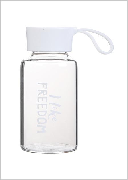 בקבוק זכוכית אופנתי- לבן
