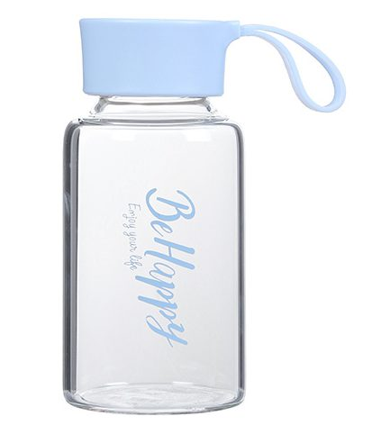 בקבוק זכוכית אופנתי- תכלת