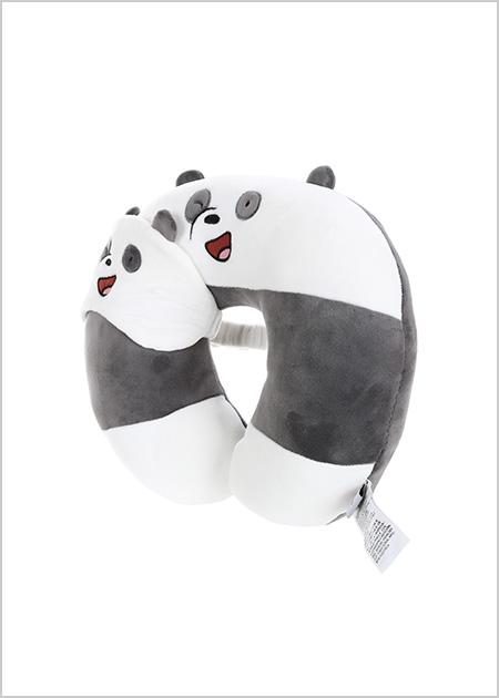 כרית לצוואר + כיסוי עיניים- דב פנדה מסדרת We Bare Bears