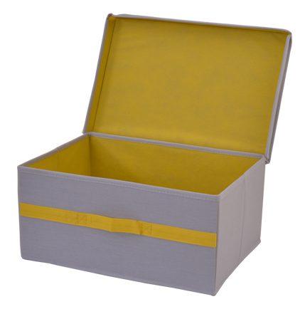 קופסת אחסון עם מכסה בינוני