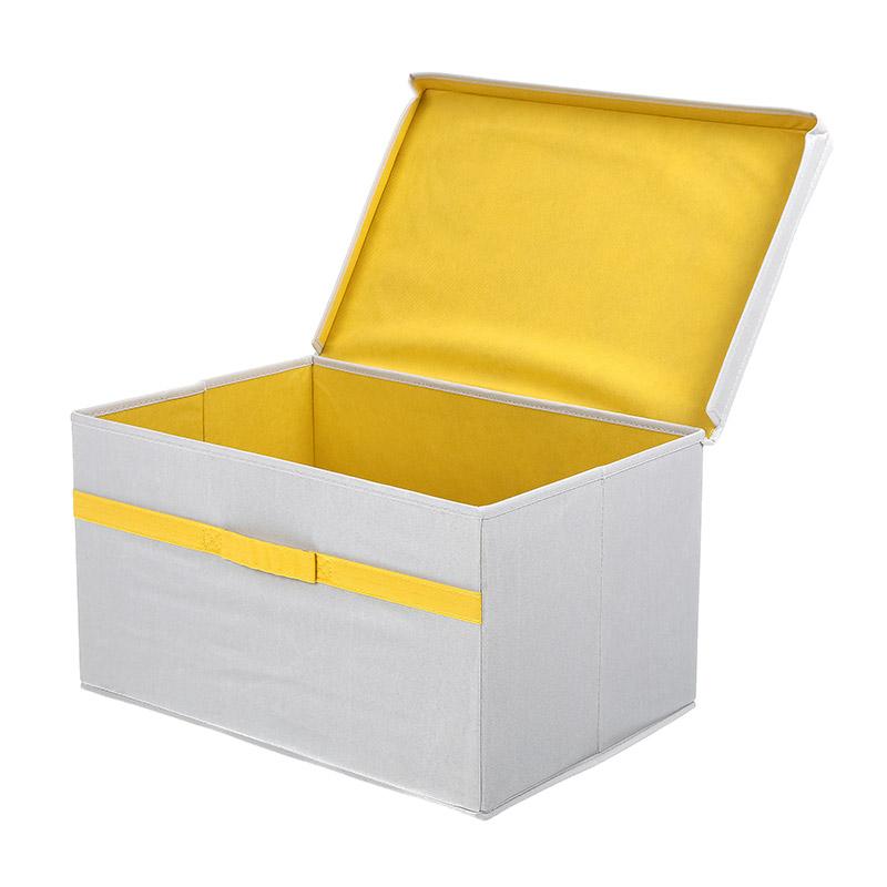 קופסת אחסון בד אפור