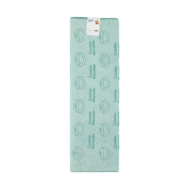 מגבת אמבטיה ירוקה מסדרת רחוב סומסום