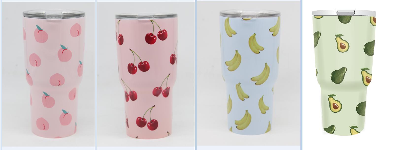 כוס טרמית מעוצבת מקולקציית פירות