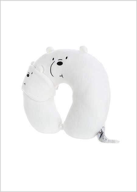 כרית לצוואר + כיסוי עיניים- דב קוטב מסדרת We Bare Bears