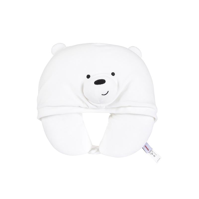 כרית לצוואר לבנה מסדרת We Bare Bears